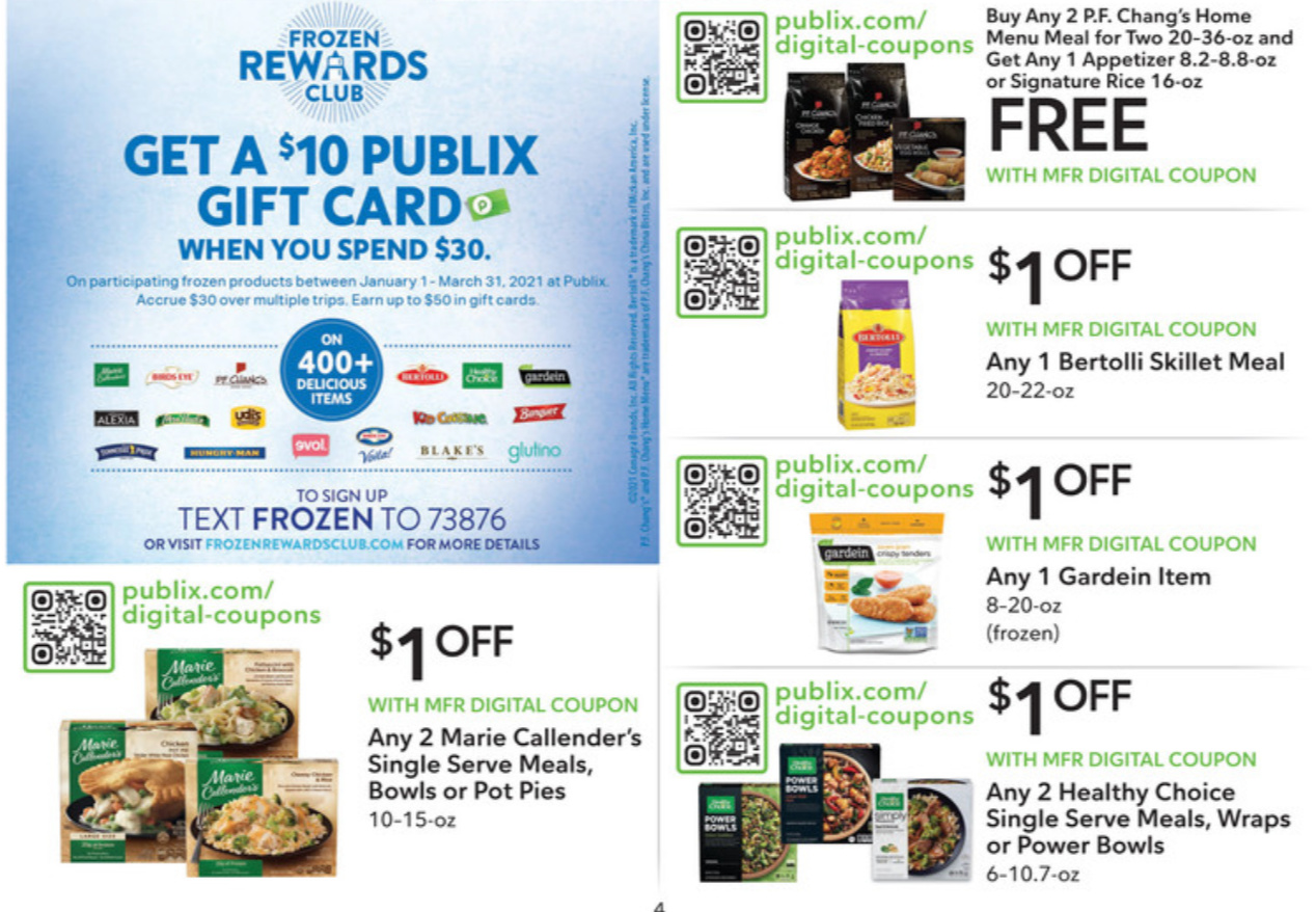 Save Up To $7 AND Earn Gift Cards This Week With The Frozen Rewards Club At Publix on I Heart Publix