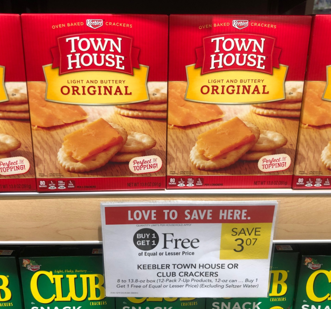 Keebler Club Or Town House Crackers Just 54¢ At Publix on I Heart Publix