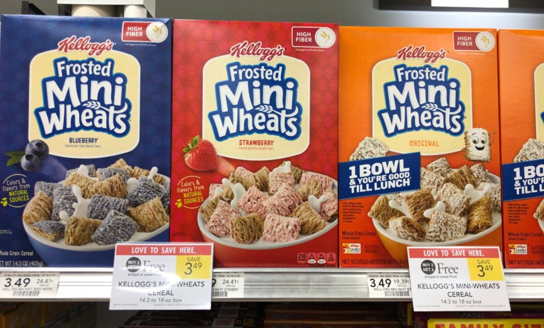 Kellogg's Mini-Wheats Cereal Just $1.19 Per Box At Publix on I Heart Publix