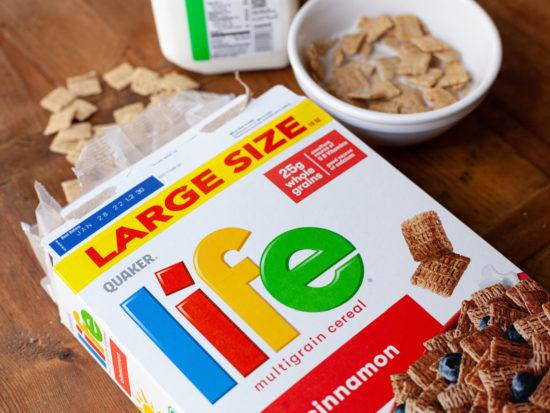 Quaker Life Cereal BIG Boxes Just $1.90 At Publix - Deal Ends Soon! on I Heart Publix
