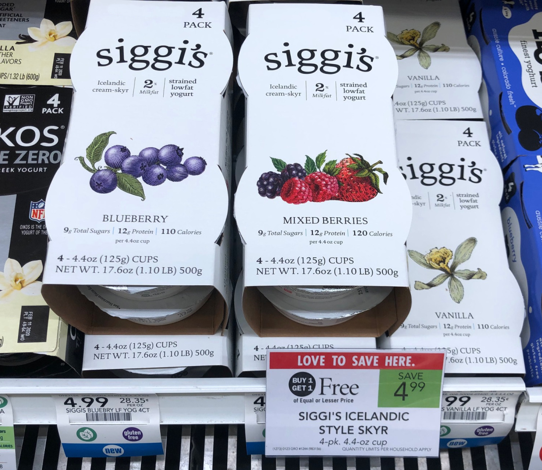 Siggi's Icelandic Style Skyr 4pk Just $1.50 At Publix on I Heart Publix 1