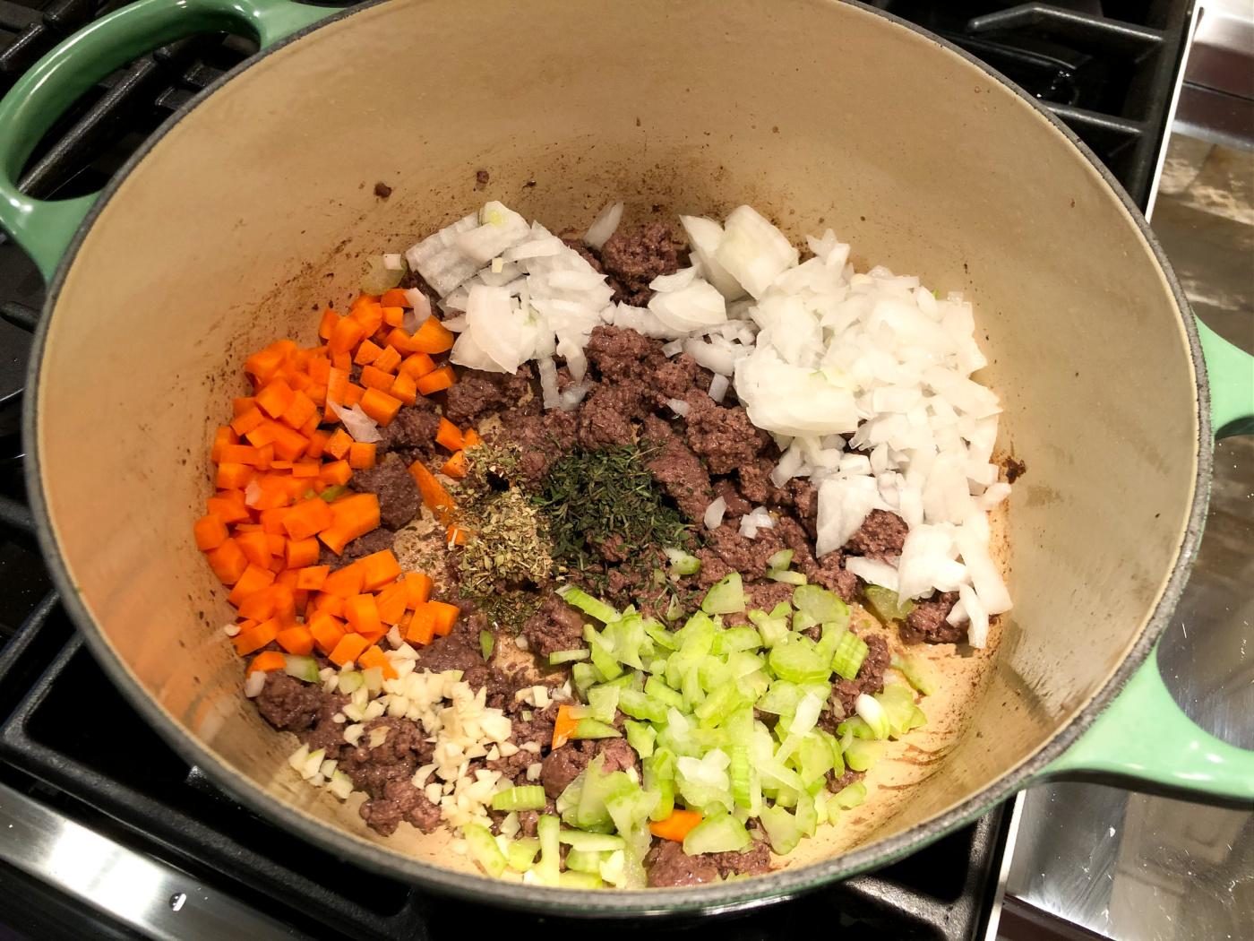 Meaty Lasagna Noodle Soup on I Heart Publix 3