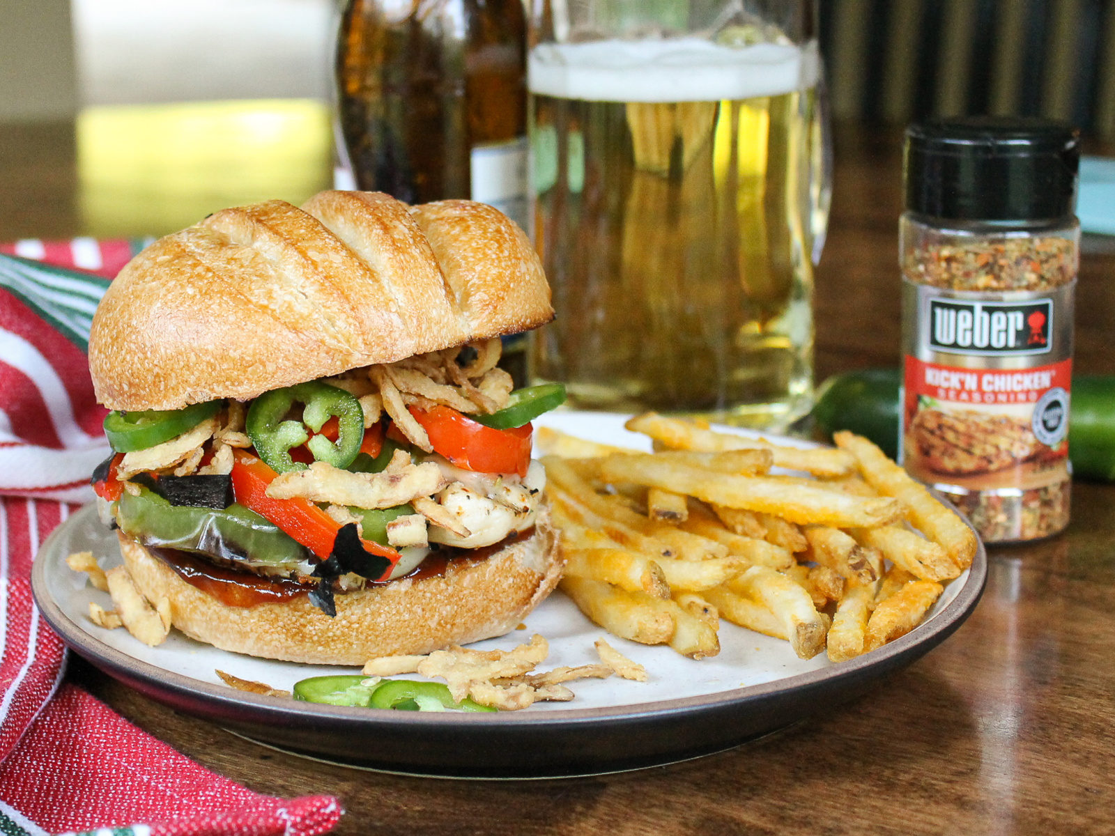 Spice Up Your Meals With Weber Seasoning - Try My Kick'n Chicken Sandwich! on I Heart Publix