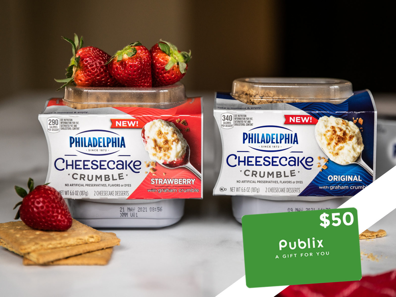 Four Readers Win A $50 Publix Gift Card To Try Delicious New PHILADELPHIA Cheesecake Crumble Desserts on I Heart Publix