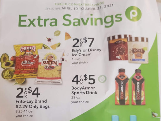 Publix Extra Savings Flyer Valid 4/10 to 4/23 on I Heart Publix