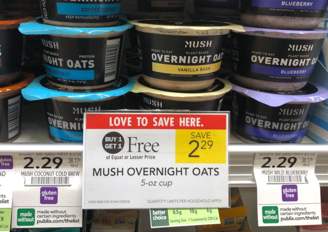 Mush Overnight Oats Just 65¢ At Publix on I Heart Publix