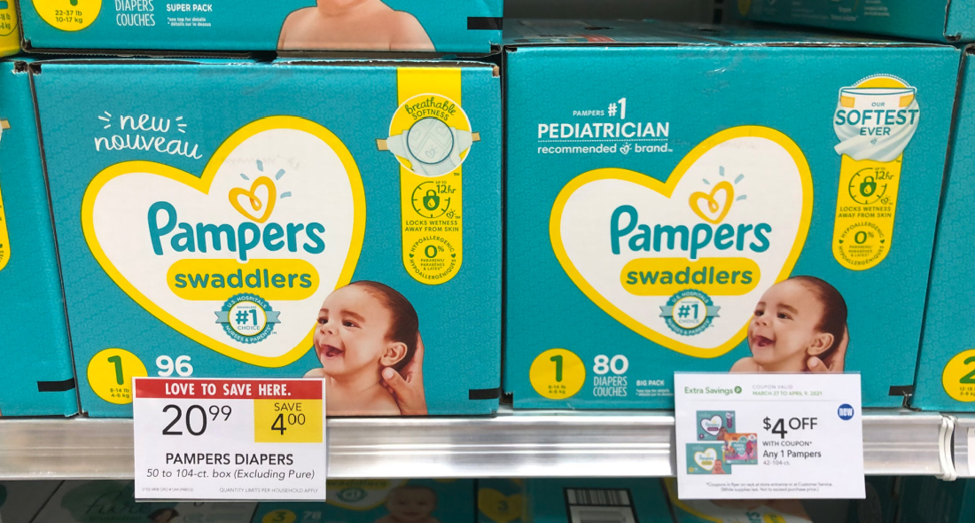 Pampers Diapers Box Just $13.99 (Save $11!) on I Heart Publix