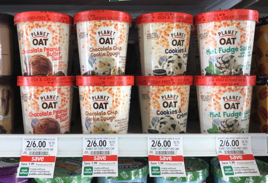 Planet Oat Non-Dairy Frozen Dessert Just $2 At Publix on I Heart Publix