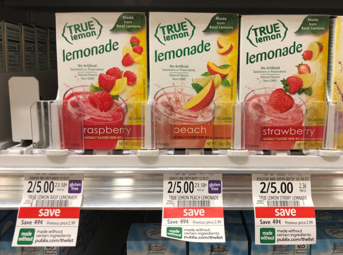 True Lemon Drink Mix Just $2 At Publix on I Heart Publix 1