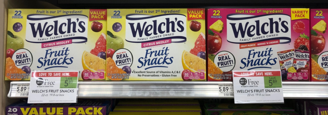 Nice Deals On Welch's Fruit Snacks At Publix - BIG Boxes Just $2.45 on I Heart Publix