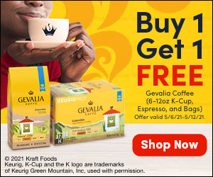 Buy 1, Get 1 Free Gevalia Coffee (6-12oz K-Cup, Espresso, and Bags) on I Heart Publix