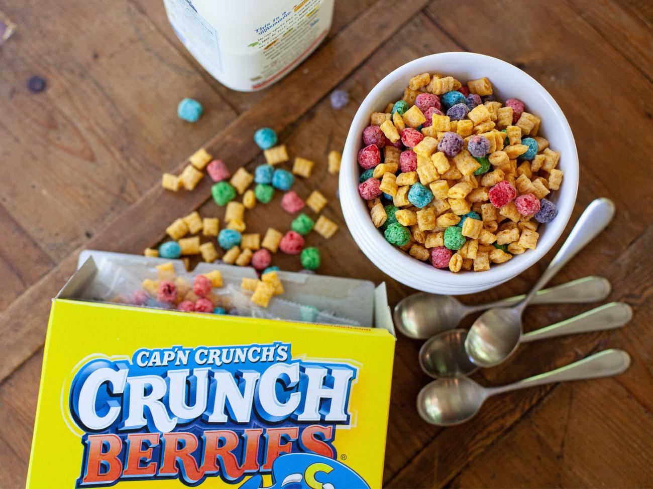 New Quaker Cap'N Crunch Cereal Coupon Makes BIG Boxes Just $1.98 At Publix on I Heart Publix