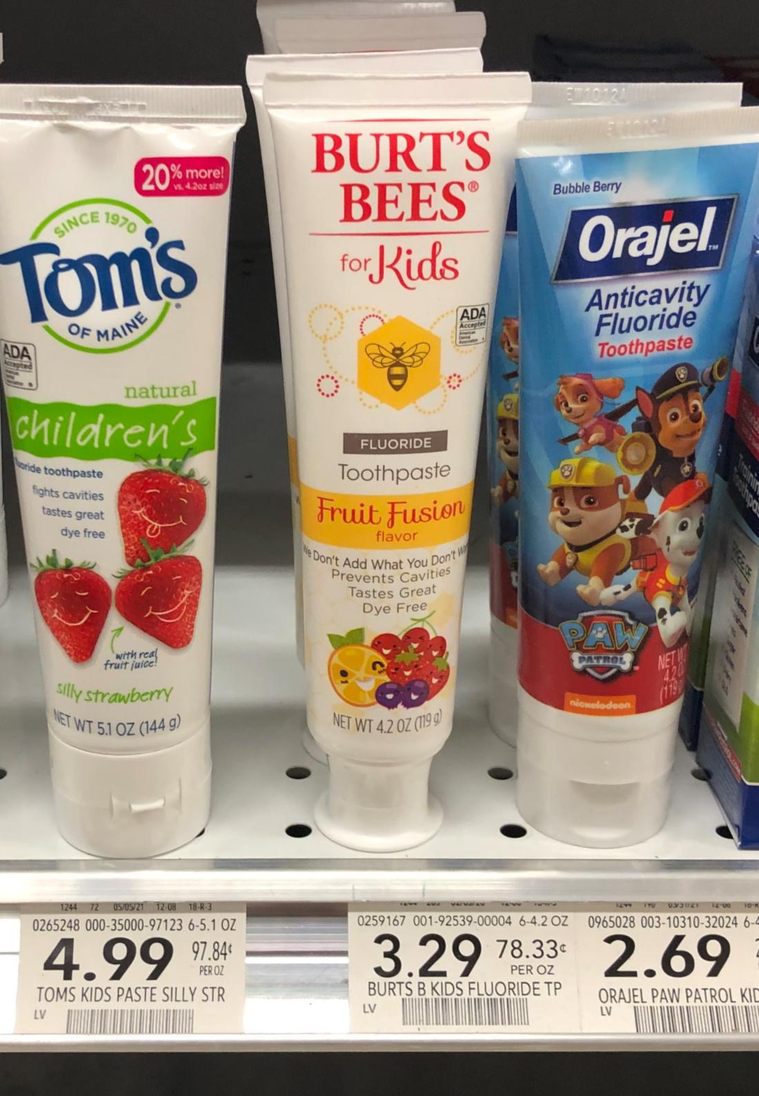 Burt's Bees Kids Toothpaste on I Heart Publix