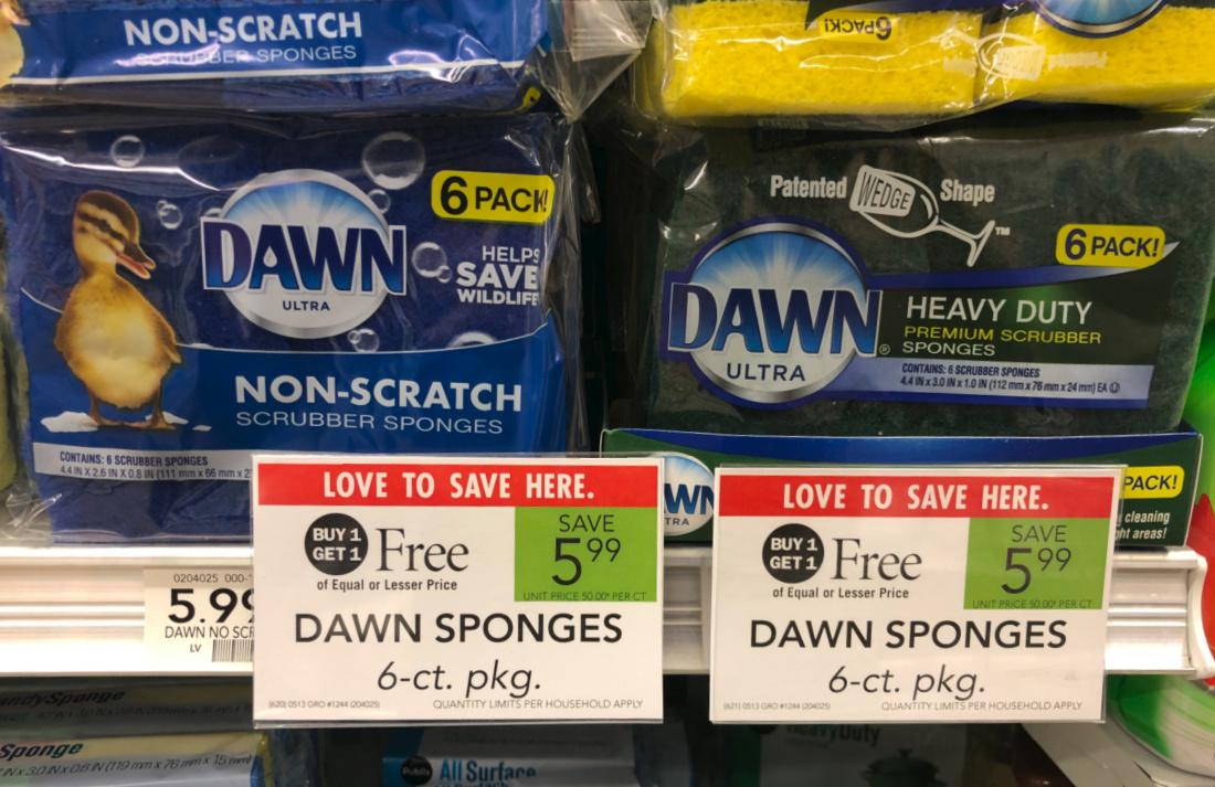 6-Packs Of Dawn Sponges Only $2.75 At Publix on I Heart Publix