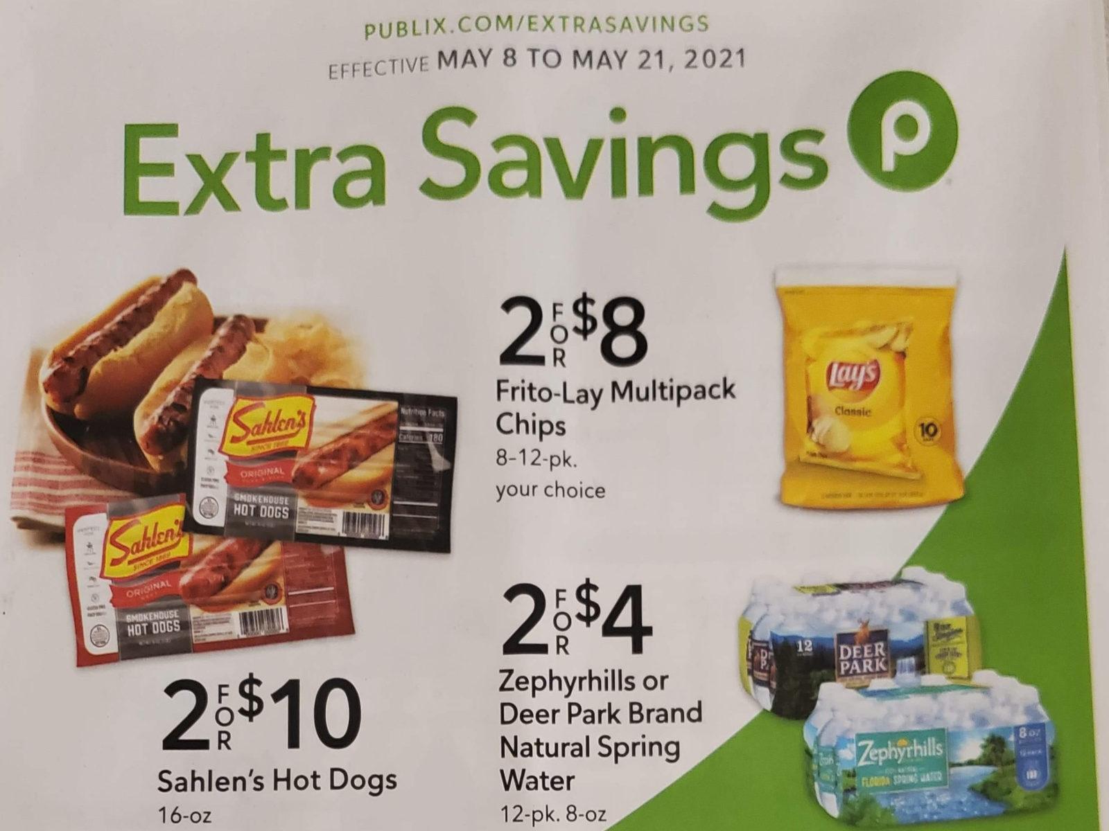 Publix Extra Savings Flyer, 5/8 to 5/21 on I Heart Publix