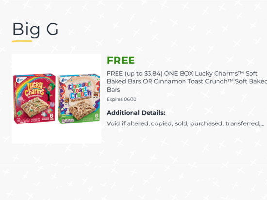 FREE Lucky Charms™ Soft Baked Bars OR Cinnamon Toast Crunch™ Soft Baked Bars At Publix on I Heart Publix