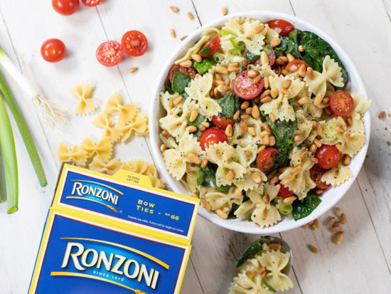 Ronzoni Bow Ties and Spinach Salad - Perfect Recipe For your Busy Weeknight! on I Heart Publix