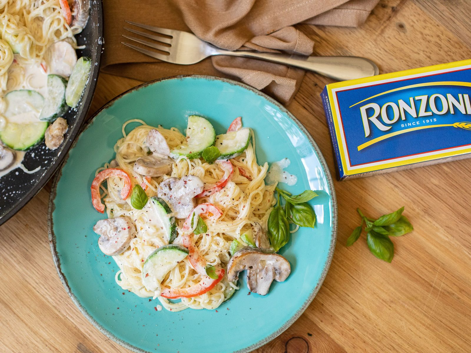 Creamy Angel Hair Primavera Is The Perfect Recipe For The Ronzoni BOGO Sale on I Heart Publix