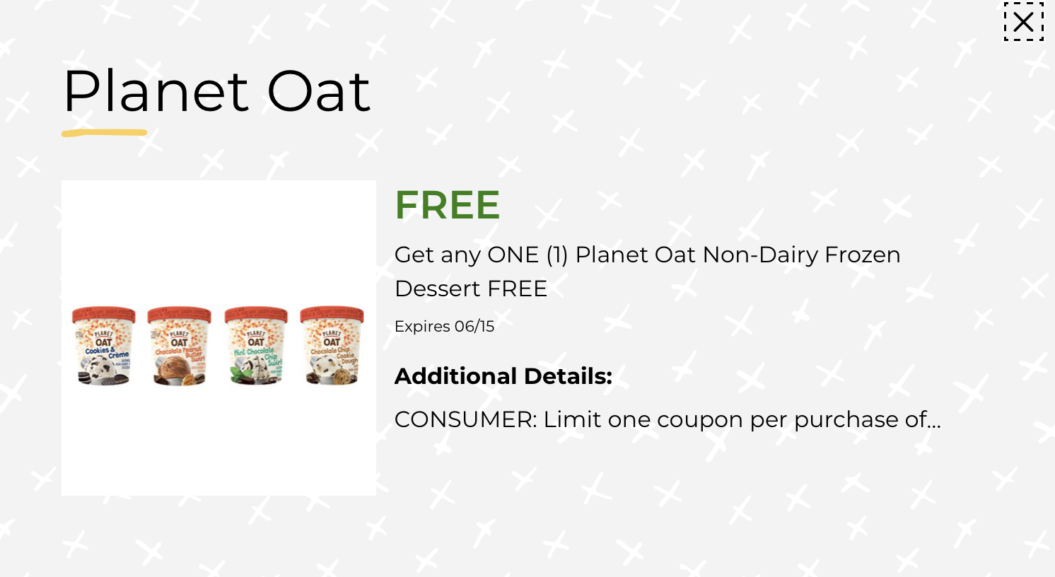 Planet Oat Non-Dairy Frozen Dessert Just $2 At Publix on I Heart Publix 2