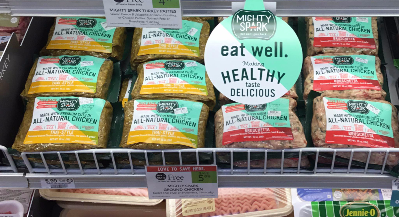 Mighty Spark Ground Chicken Is BOGO This Week At Publix on I Heart Publix 1