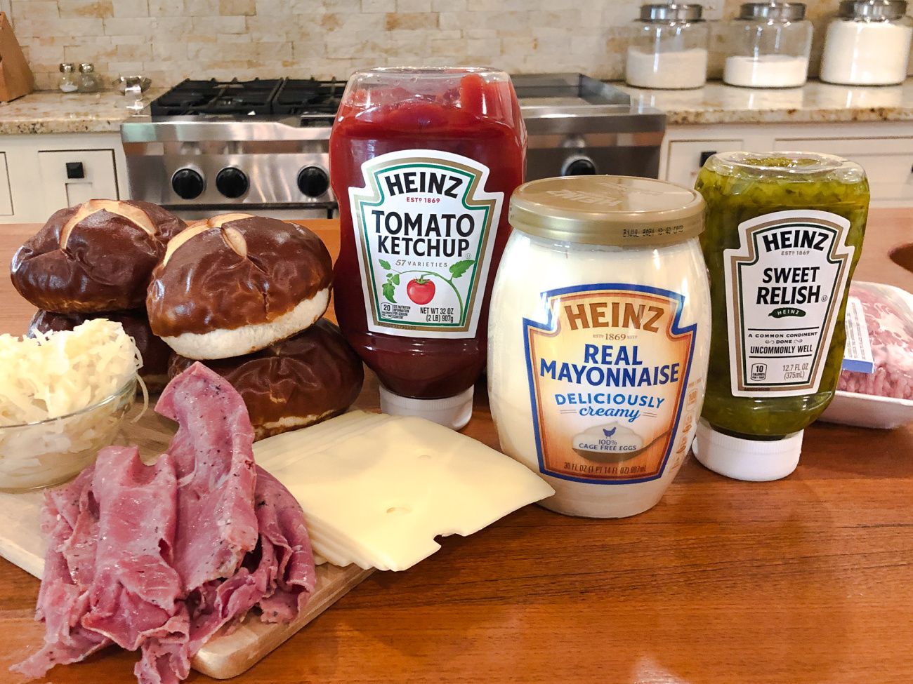 Get Everything You Need For A Tasty Reuben Burger At Publix And Be Sure To Enter The Heinz Art of the Burger Contest! on I Heart Publix