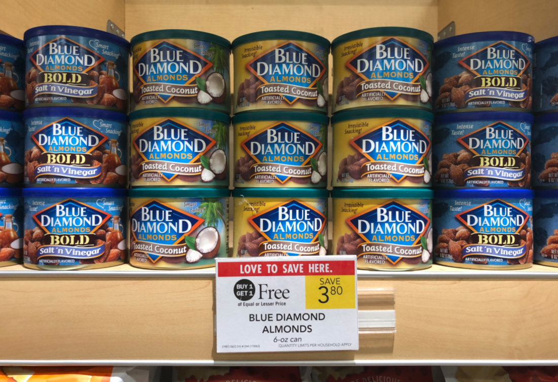 Blue Diamond Almonds Less Than Half Price - Just $1.15 Per Can At Publix on I Heart Publix 1