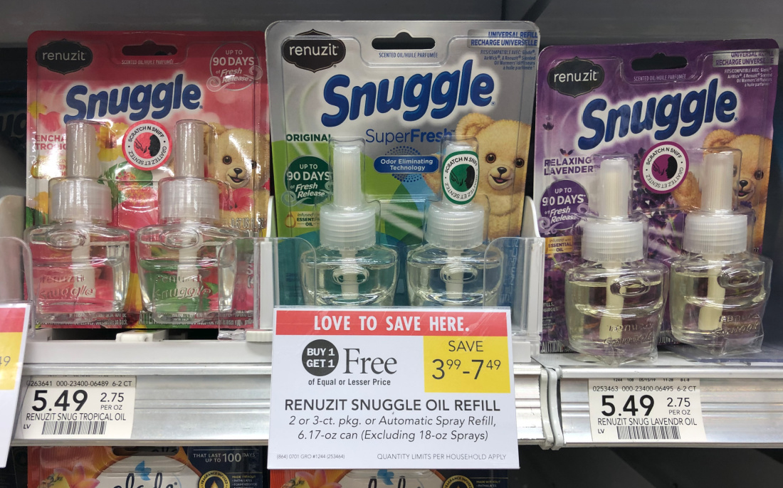 Renuzit Snuggle Scented Oil Refills $1.75 At Publix on I Heart Publix 1