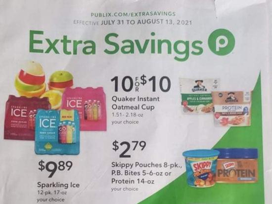 Publix Extra Savings Flyer Valid 7/31 to 8/13 on I Heart Publix