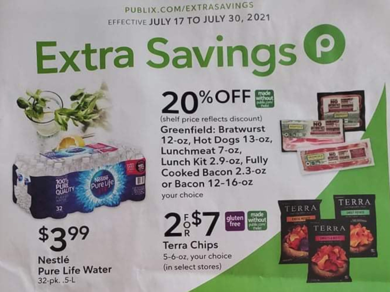 Publix Extra Savings Flyer Valid 7/17 to 7/30 on I Heart Publix