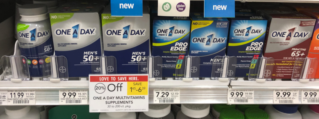 One A Day Vitamins As Low As $1.29 At Publix on I Heart Publix