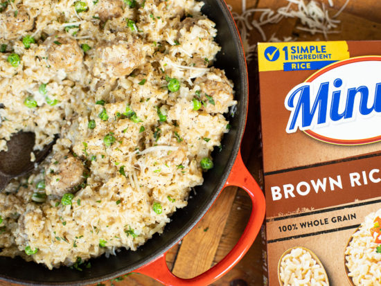 Try This Creamy Parmesan Rice And Meatballs - Made With Minute Instant Rice For A Quick & Easy Weeknight Meal on I Heart Publix 2