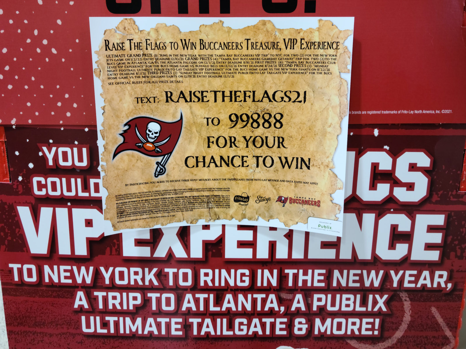 Tampa Bay Area Publix Shoppers - New Bucs Sweepstakes! on I Heart Publix