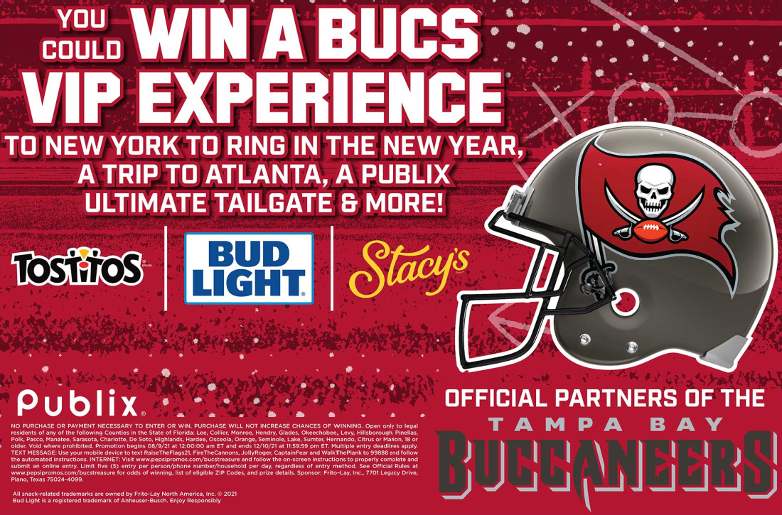 Tampa Bay Area Publix Shoppers - New Bucs Sweepstakes! on I Heart Publix 1
