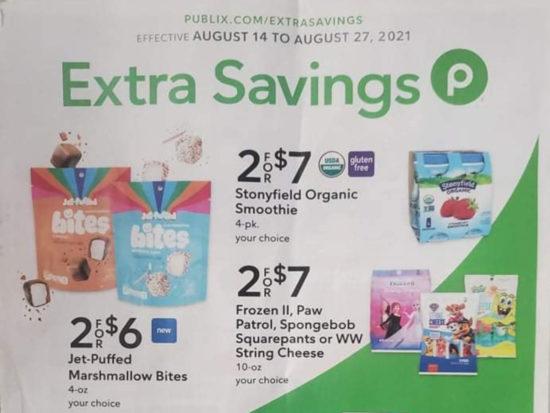 Publix Extra Savings Flyer Valid 8/14 to 8/27 on I Heart Publix