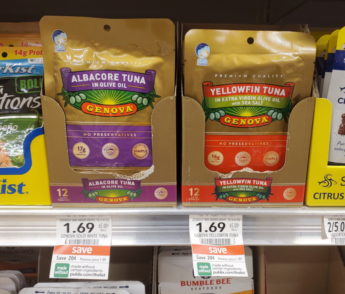 Genova Albacore or Yellowfin Tuna As Low As $1.14 At Publix on I Heart Publix