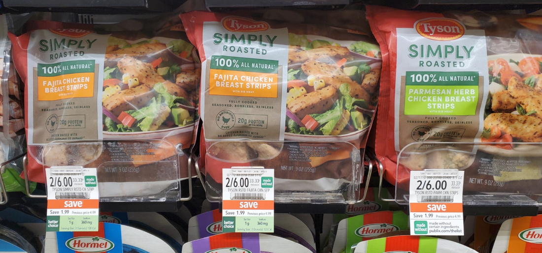 Tyson Simply Roasted Chicken Strips Just $1 At Publix on I Heart Publix