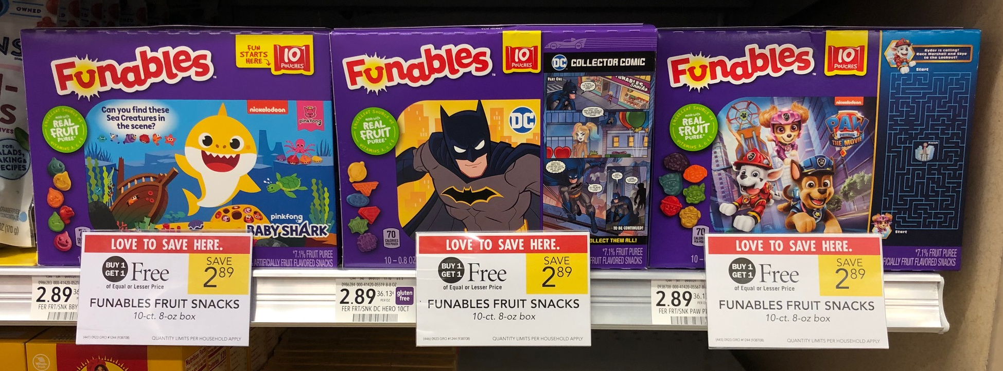 Funables Fruit Snacks As Low As FREE At Publix on I Heart Publix