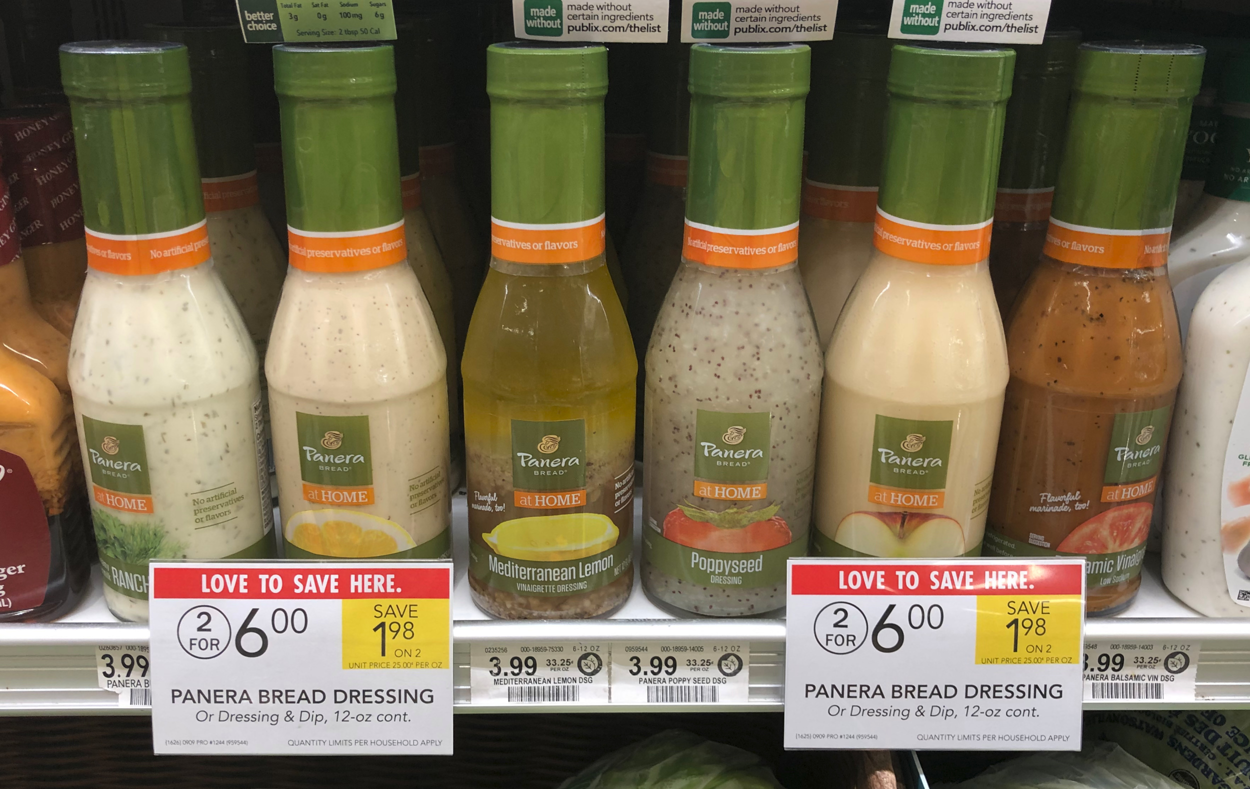 Panera Bread Salad Dressing As Low As $1.80 At Publix on I Heart Publix