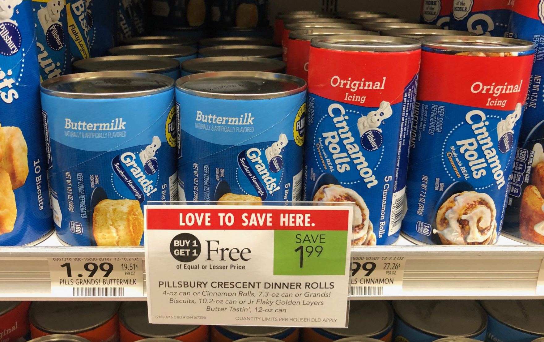 Pillsbury Crescents, Cinnamon Rolls Or Biscuits As Low As 67¢ Per Can At Publix on I Heart Publix
