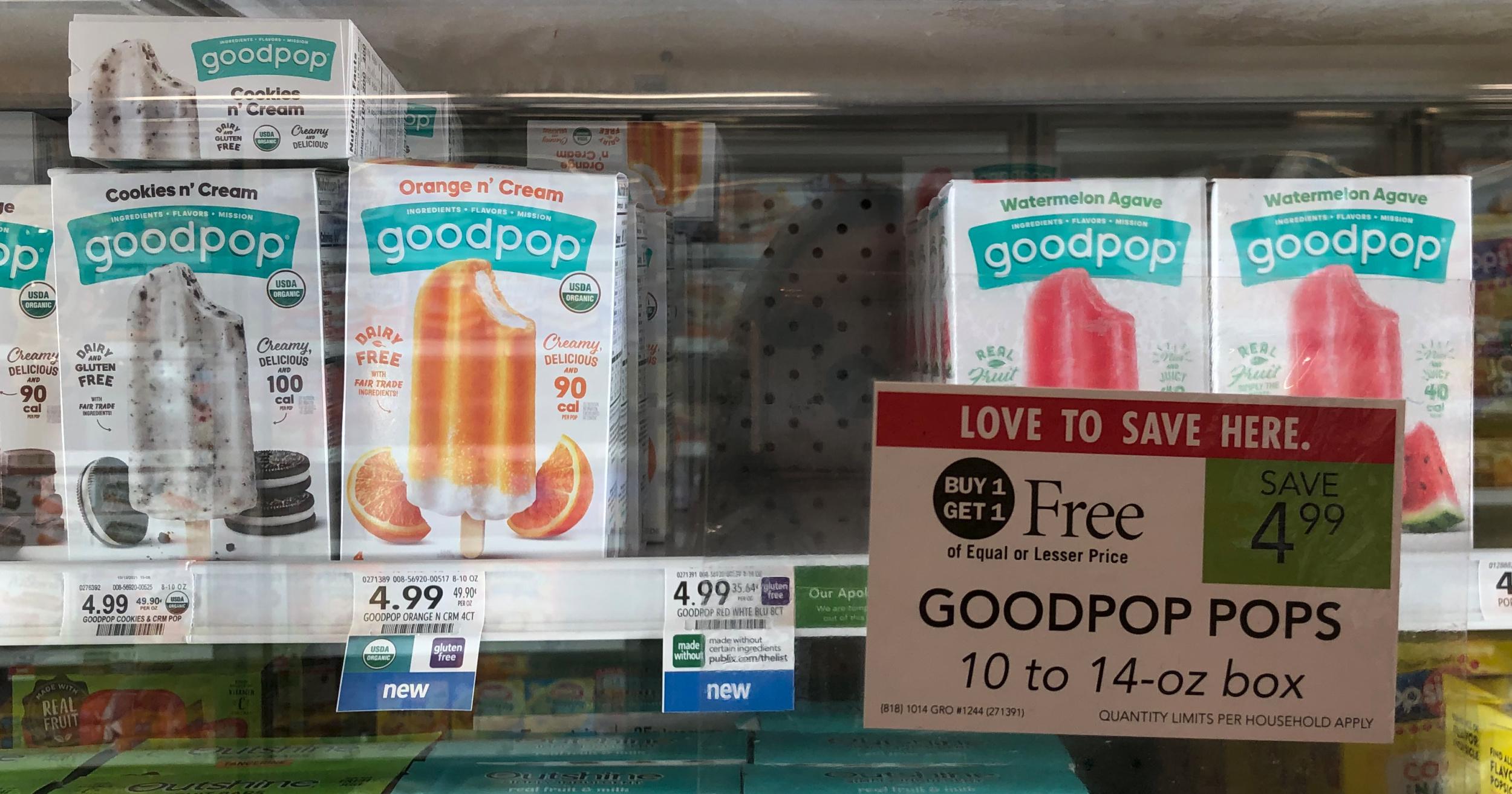 GoodPop Pops Just $1.50 At Publix on I Heart Publix
