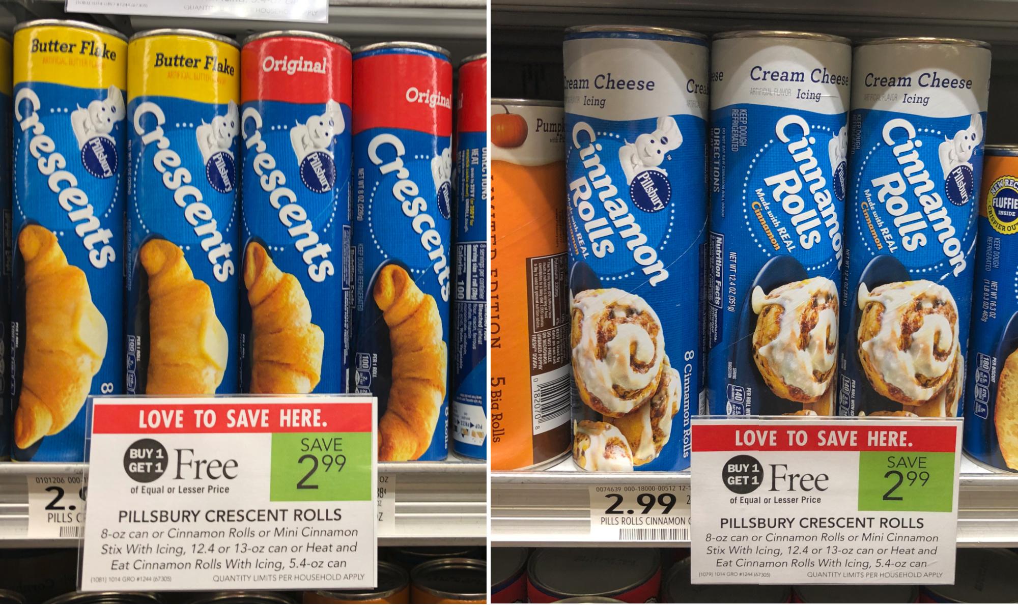 Pillsbury Crescents & Cinnamon Rolls As Low As $1.17 Per Can At Publix on I Heart Publix